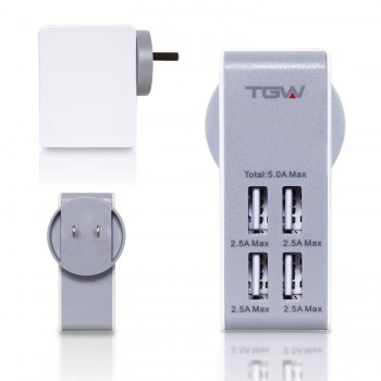 CARGADOR PARED TGW 4 PTOS USB ICHAR34
